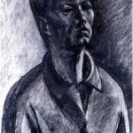 Self-portrait - 1964 - 60x40cm - paper, charcoal