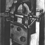 Vice - 1964 - 60x40cm - paper, charcoal