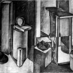 Interior - 1964 - 100x70cm - paper, charcoal