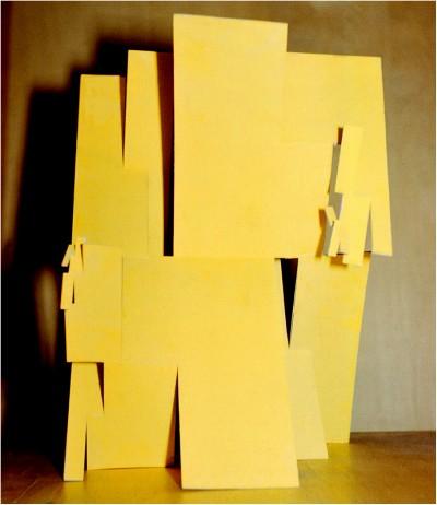 Folding (fractal) - 1968 - 60x40cm - painted carton