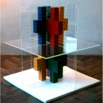 Combination of basic elements in a 3D coordinate system - 1969 - 100x100x100cm - painted carton, plexiglass