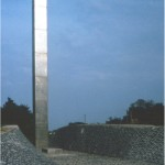 Memorial space, Békéscsaba (H) - 1976 - 300x30x12m - stainless steel, stone, light