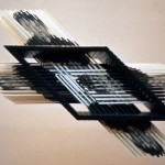Broken dimension II. - 1984 - 84x84x40cm - painted wood, aluminum, photo