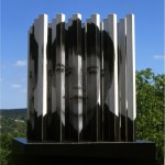 Broken dimension, more than 3D. - 1979-84 - 60x50x50cm - painted wood, aluminum, photo