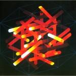 Position pictures VI. (5D. broken cylinder) - 1989 - 180x180cm  - canvas, acrylic