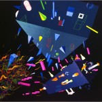Untitled (The war between the three main isms) - 1992 - 200x200cm - canvas, acrylic