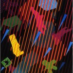 Electromagnetic rain - 1992 - 200x140cm - canvas, acrylic