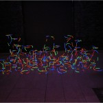 Interrupted continuity - 2001 - 380x180x150cm - painted brass, UV light
