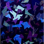 Multi-viewpoint of form segments - 1998 - 200x140cm - canvas, acrylic