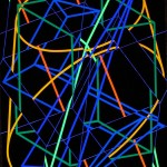 Form segments in 4D. space - 1997 - 200x140cm - canvas, acrylic