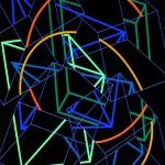 Multi-viewpoint of form segments - 1997 - 200x140cm - canvas, acrylic