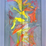 Contrasted forms - 2001 - 100x50x50cm - painted glass, UV light