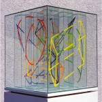 Multi-viewpoint of form segments - 1998 - 40x40x40cm - painted glass, UV light