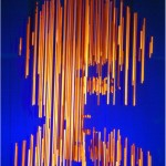Portrait - 2000 - 100x100x100cm - painted aluminum bars