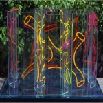 Multi-viewpoint of form segments - 2001 - 28x28x23cm - painted glass