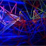 Sinking city - 2001 - 110x61x78cm - painted glass, metal, UV light