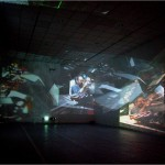 Interactive environment - 2006 - 12x6x4m - four video projectors, 9 DVD players, computer, sound