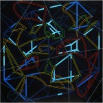 Beyond the four -dimensional space structure - 1998 - 100x100cm - canvas, acrylic