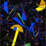 Multi-viewpoint of form segments IV/I. - 1998 - 120x120cm - canvas, acrylic