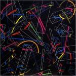 Multi-viewpoint of form segments IV/II. - 1998 - 120x120cm - canvas, acrylic