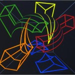 Virtual sphere - 1998 - 120x120cm - canvas, acrylic