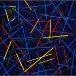 Completion of incidental lines - 1998 - 120x120cm - canvas, acrylic