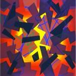 Isomorphic form segments - 1998 - 100x100cm - canvas, acrylic