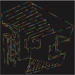 Absurd house - 2005 - 30x30cm - canvas, acrylic