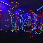 Polyphonic Visual Space - 2009 - 660x300x250cm - painted aluminum, UV light