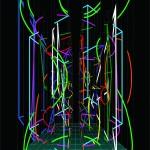 Interactions VIII. - 2009 - 200x140cm - acrylic, canvas