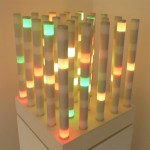 Title: Programmable LED sculpture - 1984-2009 - 60x52x52cm - plexiglass, painted wood, LED, DMX